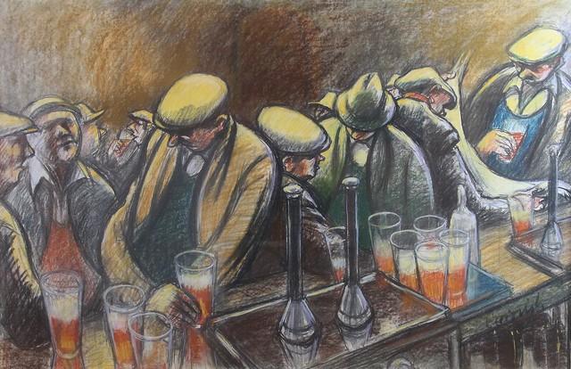 , 'Busy Bar,' , Castlegate House Gallery
