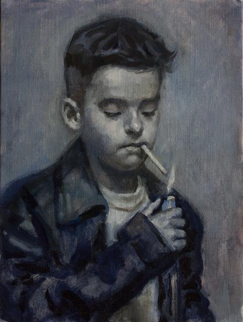 , 'KID SMOKING (FIVE),' 2018, La Luz de Jesus Gallery