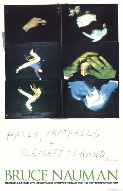 Bruce Nauman, 'Falls, Pratfalls + Sleights of Hand', 1994, Ephemera or Merchandise, Offset Lithograph, ArtWise