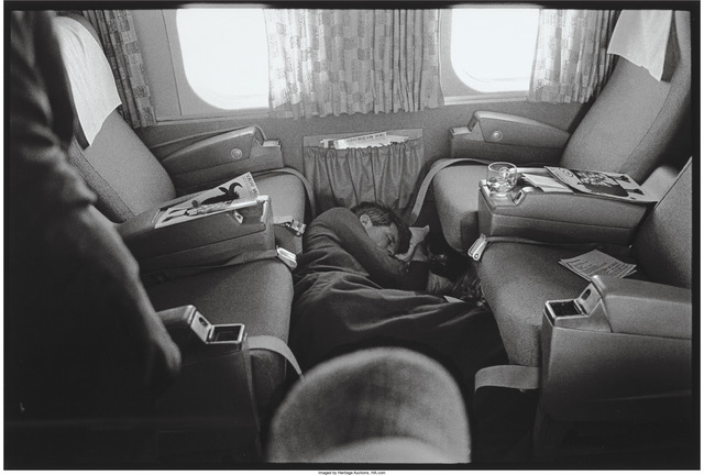Lawrence Schiller, 'Robert Kennedy asleep on the plane from The Last Campaign', 1968, Heritage Auctions