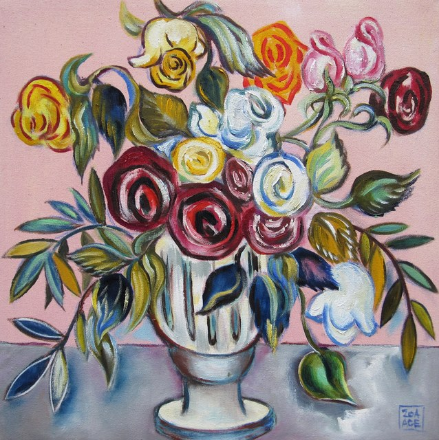 Zoa Ace, 'Vase of Roses', 2015, Abend Gallery