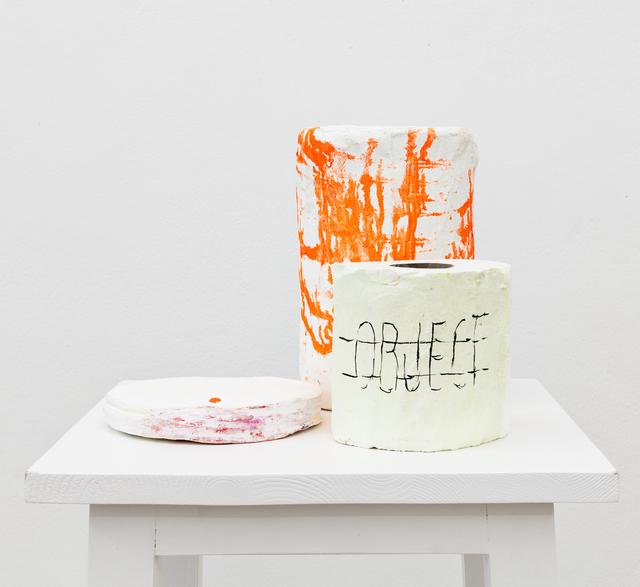 Joëlle Tuerlinckx, 'SELLE DE SCÈNE (II) 'Objets de scène' : les Rols - série scénique'', 2015, Galerie nächst St. Stephan Rosemarie Schwarzwälder