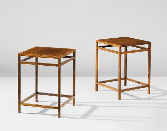 Aksel Bender Madsen and Ejner Larsen, 'Pair of side tables', Phillips