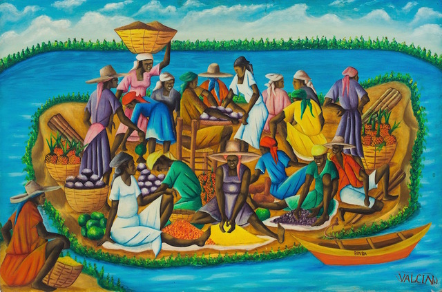 Gerard Valcin, ' Haitian Island', Dated 1964, ZQ Art Gallery