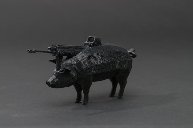 , '#pig #gun,' 2013, Upfor