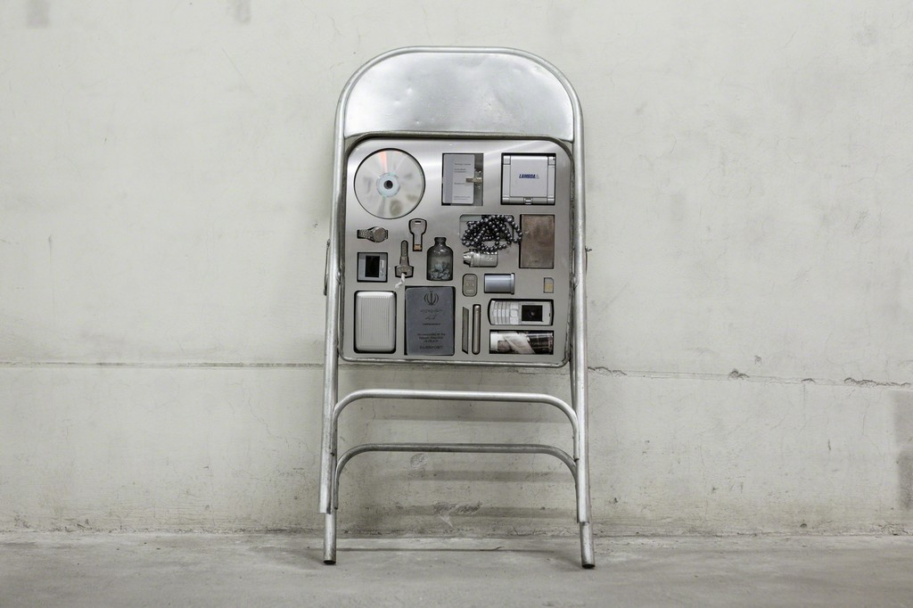 Nazgol Ansarinia, from the Private Assortment series, 2013, Unique Piece Metal Chair, mixed media