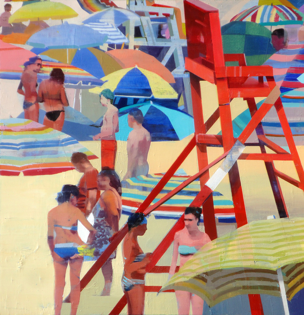 , 'Warm Day on the Beach,' 2018, Sue Greenwood Fine Art