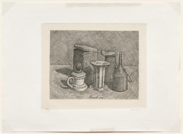 Giorgio Morandi, 'Natura morta con il lume bianco a sinistra, 1928 (Vitali 47)', 1928, DICKINSON