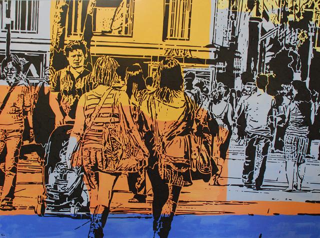 Lucinda Luvaas, 'Walking Uptown', Walter Wickiser Gallery