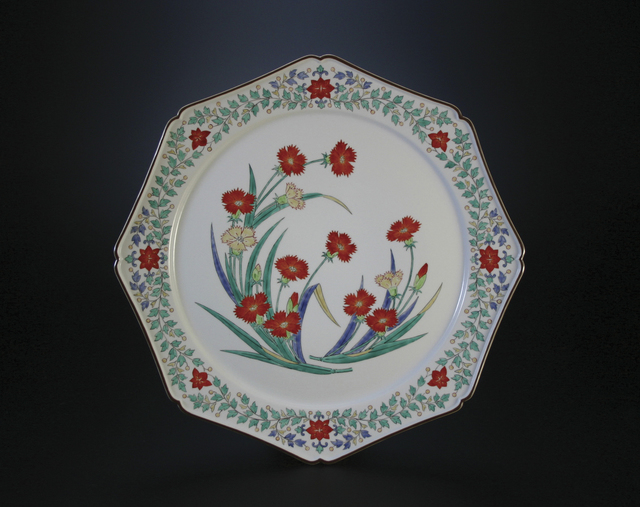 , 'Nigoshide white plate  with dianthus patterns,' 2012, Onishi Gallery
