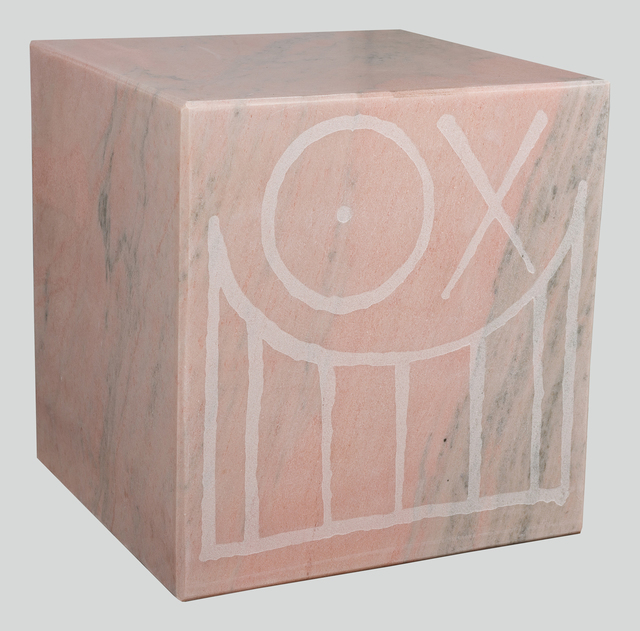 , 'Mr. A Pink Marble Cube 45 cm 1,' 2018, Underdogs Gallery