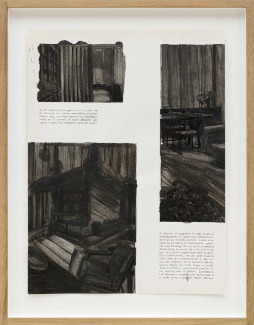 , 'Pagine dipinte #3, La divisione tra il soggiorno e lo studio,' 2016, P420