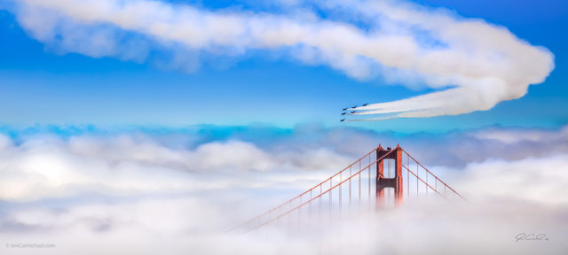 , 'Imagine (Blue Angels performing over the Golden Gate),' 2015, Cynthia Corbett Gallery