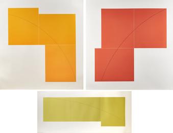 Three Aquatints (Yellow, Orange and Red)