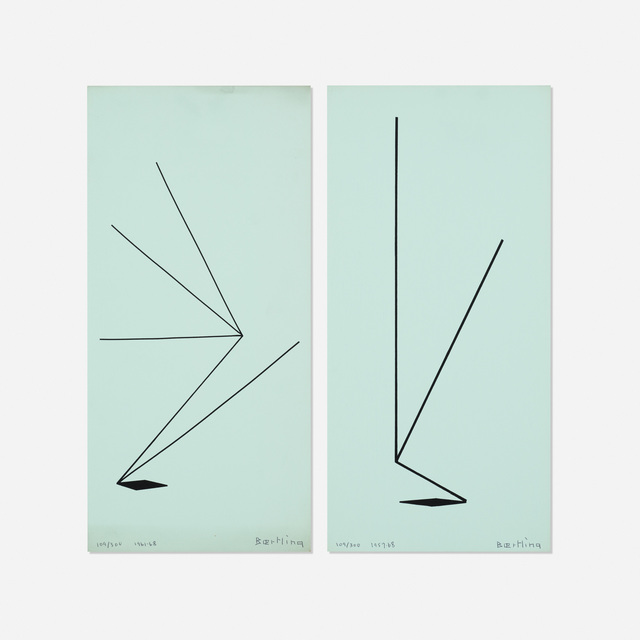 Olle Baertling, 'Untitled (two works from The Angles of Baertling - Open Form, Infinite Space portfolio)', 1957, 68/1961, 68, Wright