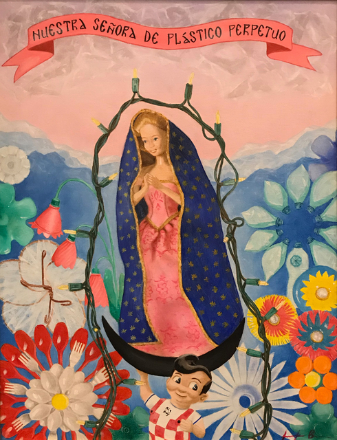 Jen Brown, 'Our Lady of Perpetual Plastic', 2020, Painting, Oil on canvas, The Secret Gallery