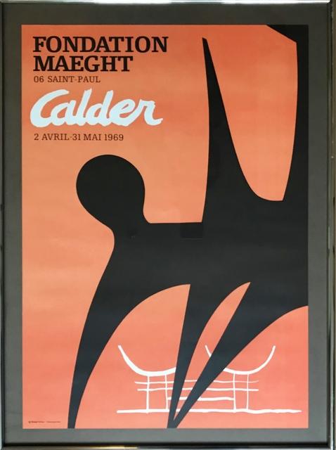 Alexander Calder, 'Fondation Maeght', 1969, Ephemera or Merchandise, Offset Lithograph. Framed., Alpha 137 Gallery Gallery Auction