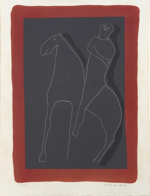 , 'Cavalier Rouge et Noir. Rider in Red and Black. ,' 1955, William Weston Gallery Ltd.