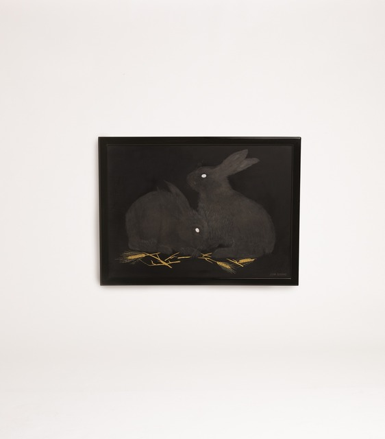, 'Lacquered Panel Depicting Rabbits,' ca. 1926, Maison Gerard