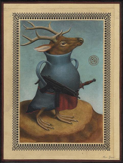 , 'Deer Pot Creature Sub Machine Gun,' 2017, Black Book Gallery