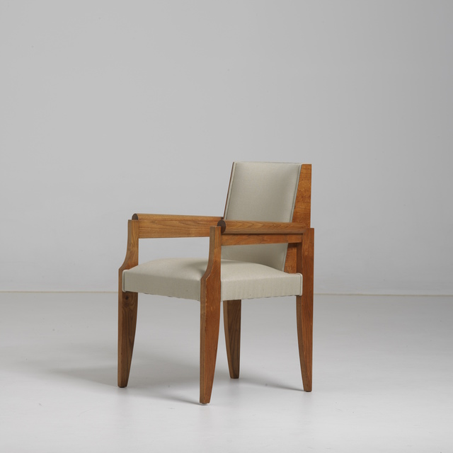 André Sornay, 'Pair of « bridge » armchairs', ca. 1941, Design/Decorative Art, Ash and oak with brass nails and solid oak, Galerie Alain Marcelpoil