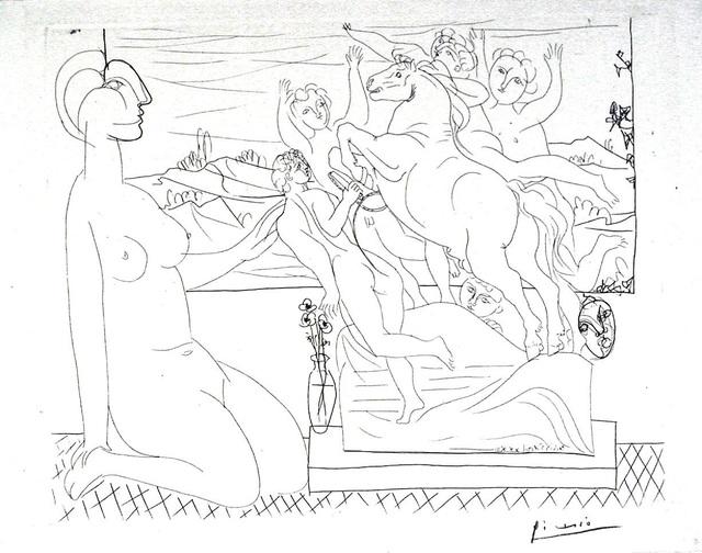 Pablo Picasso, 'Model Contemplating Sculpture', 1933, Harris Schrank Fine Prints