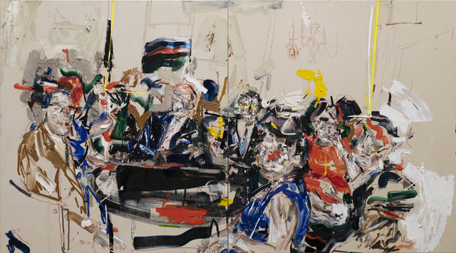 John Copeland, 'Imperfect Octave', 2020, Painting, Oil on raw canvas (diptych), V1 Gallery