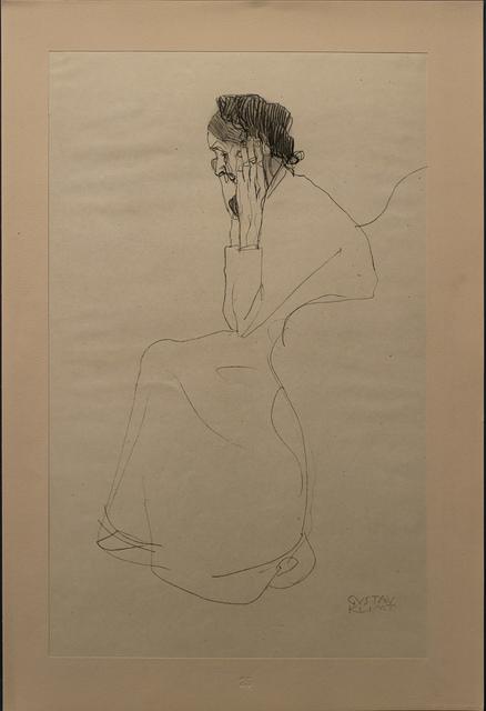 Gustav Klimt, 'Study of an Old Lady', 1919, Print, Archival Paper, White Cross