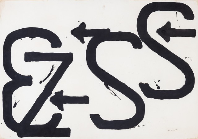 Jannis Kounellis, 'Numeri, lettere e simboli', Painting, Tempera on paper, Finarte