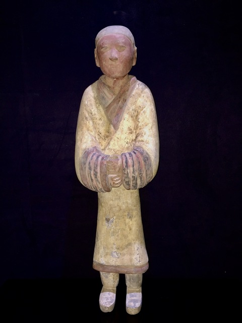 Han Dynasty, 'Elegant Han Dynasty Terracotta Warrior – China '206 BC – 220 AD' – TL Tested', Muzeion Gallery