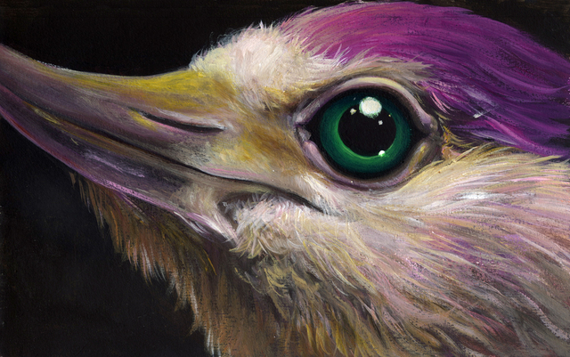 , 'Purple Bird With Green Eye,' 2018, Deep Space Gallery