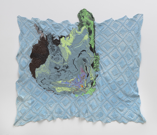 Rodney McMillian, 'Untitled', 2019, Textile Arts, Latex on blanket, Petzel Gallery