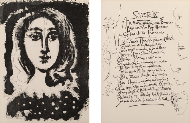Pablo Picasso, 'Vingt Poems de Gongora', 1948, Books and Portfolios, Complete set of 41 etchings with aquatint onMarais watermarked wove paper, Heritage Auctions