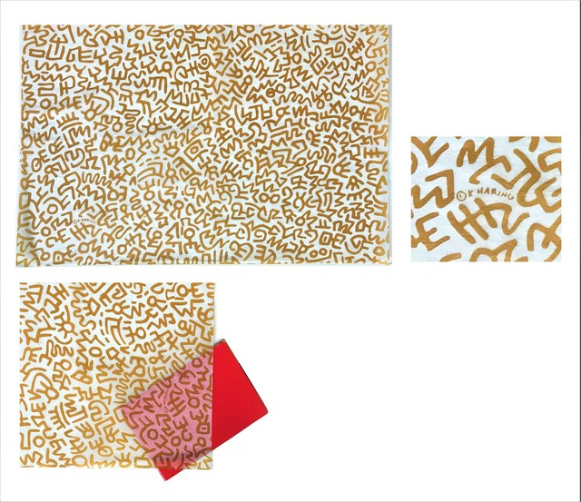 Keith Haring, 'POP Shop NYC, 1980's, Trash (rice) Paper for Purchases', 1980-1995, VINCE fine arts/ephemera
