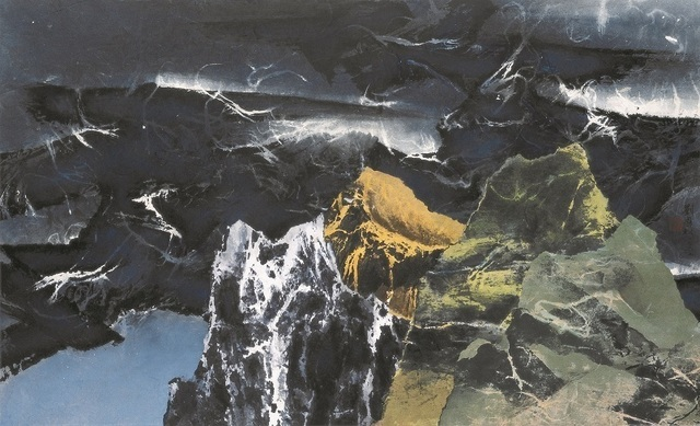 , 'Dusk amid Green Mountains 暮徙碧山下,' 1967, Galerie du Monde