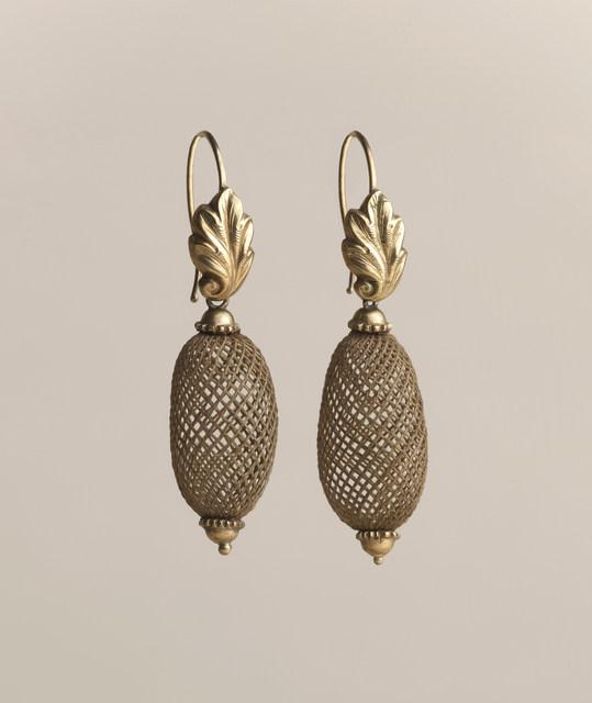 'Pair of earrings', 1860-1870, Cooper Hewitt, Smithsonian Design Museum