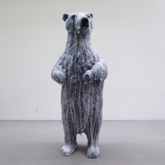 Shira Zelwer, 'Polar Bear', 2017, Sculpture, Wax, wire, acrylic paint, polyurethane and epoxy, Mirav Katri