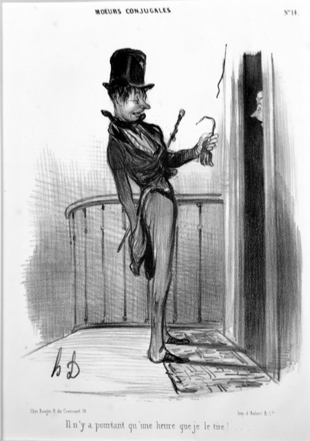 Honoré Daumier, 'I've Only Been Ringing for an Hour', 1839, Harris Schrank Fine Prints
