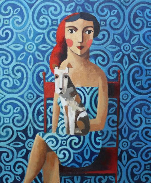 Didier Lourenço, 'Woman and dog', 2019, GALERIA JORDI BARNADAS