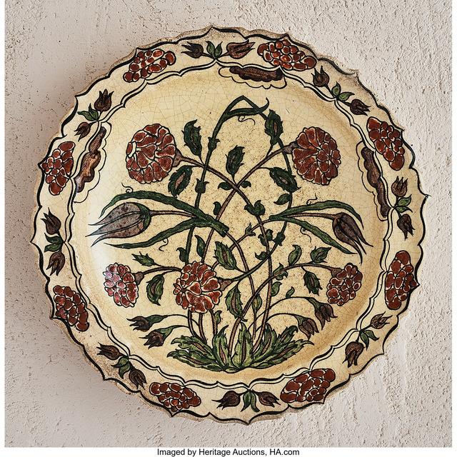 Jean-Jacques Lachenal, 'Rose Bush Platter', circa 1925, Heritage Auctions