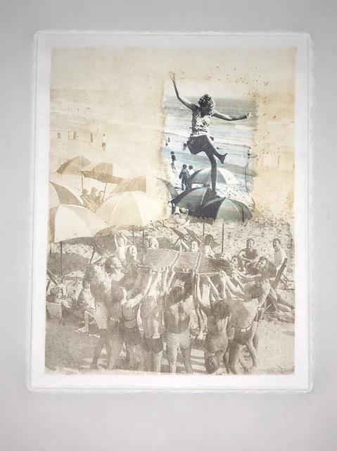 Jay Handy, 'Beach Party', 2020, Print, Drypoint engraving with chine colle, SHIM Art Network