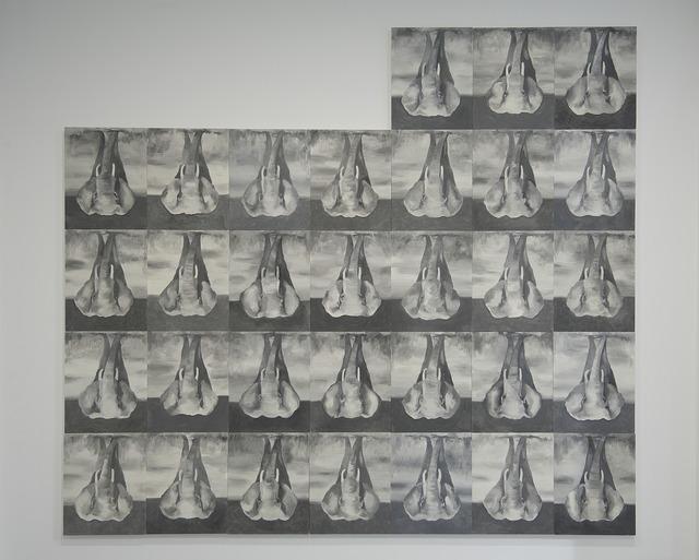 Babak Golkar, 'Deaf Feet', 2017, Painting, Lead based oil on canvas, Sabrina Amrani