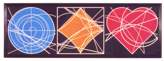 Clifford Singer, 'The Geometry Of The Circle, Square & Heart', 1995, Painting, Acrylic on Plexiglas, iMuseum Vegas