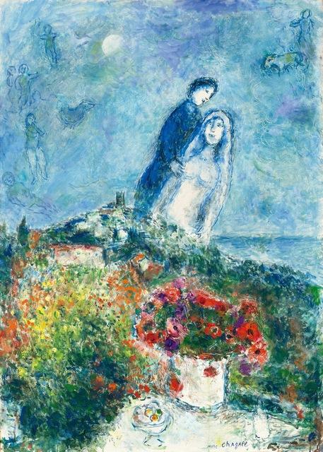 Marc Chagall, 'Les fiancés aux anémones', 1979, David Benrimon Fine Art