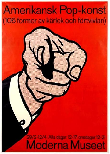 "Roy Lichtenstein, '""Amerikansk Pop-konst"" (American Pop) Moderna Museet Exhibition Poster (De-accessioned from the Denver Art Museum)', 1964, Alpha 137 Gallery Auction"