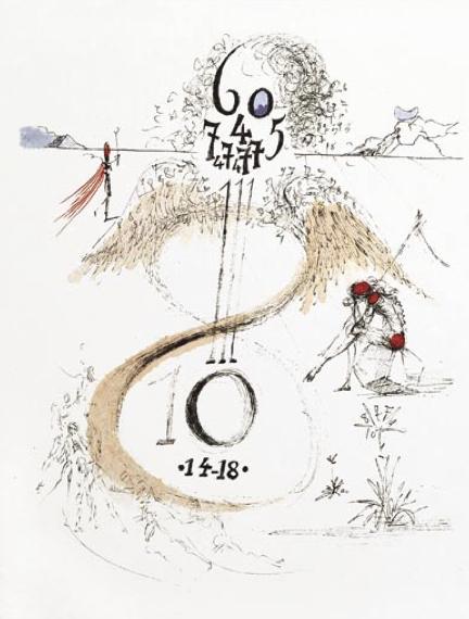 Salvador Dalí, 'Guerre de 14-18 (the War of 1914-18)', 1967, Print, Etching on Japon Paper, Puccio Fine Art