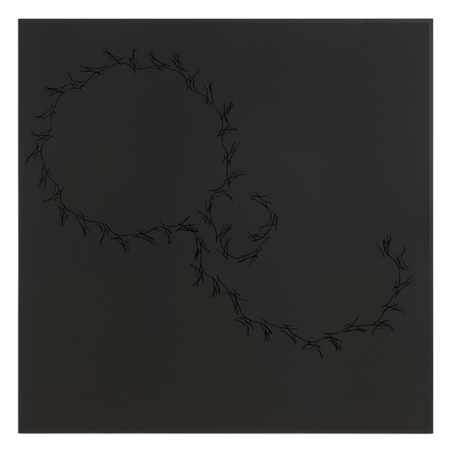 , 'Lines on black ( Höller, Tiravanija, Rehberger ),' 2016, STPI