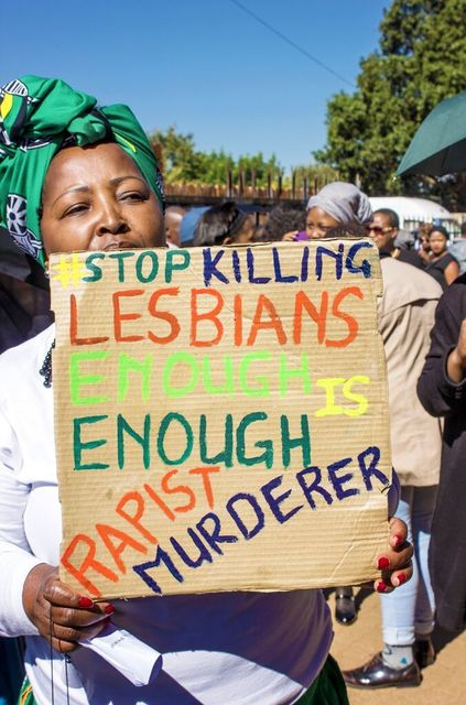 , 'Member of ANCWL Showing That She's Also Tired of People Who Are Killing Lesbians,' 2017, Jenkins Johnson Gallery