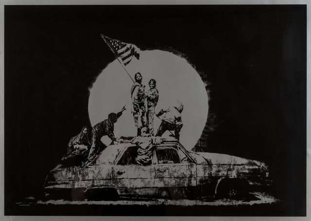 Banksy, 'Silver Flag', 2006, Forum Auctions