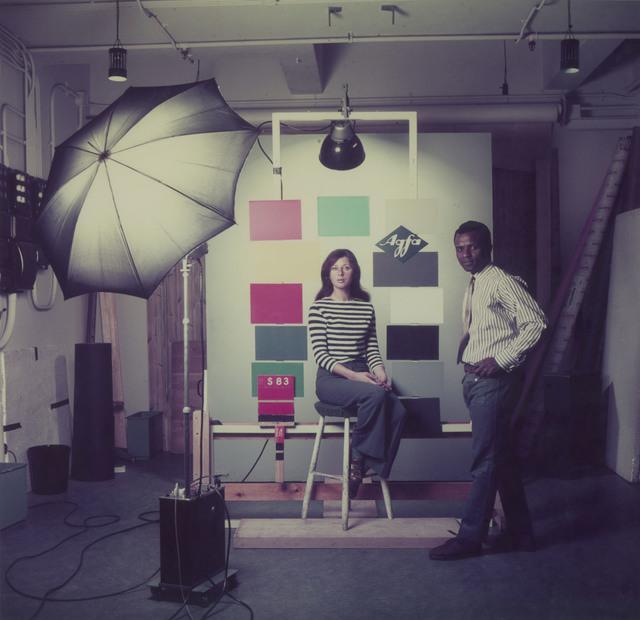 , 'James Barnor at the studio Agfa-Gevaert studio Mortsel, Belgium, 1969,' 2018, Galerie Clémentine de la Féronnière